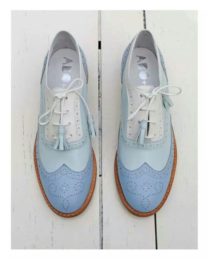 ABO brogues by Iva Ljubinkovic #abo #brogues #oxfords #shoes #pastel #blue
