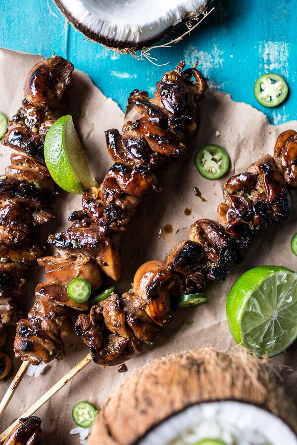 Coconut Honey Lime Filipino Chicken Adobo Skewers | halfbakedharvest.com @hbharvest