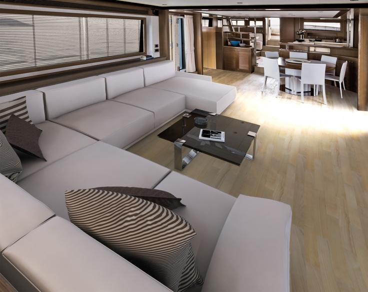 Internal view Mochi Craft - Long Range 25 #yacht #luxury #ferretti #mochi