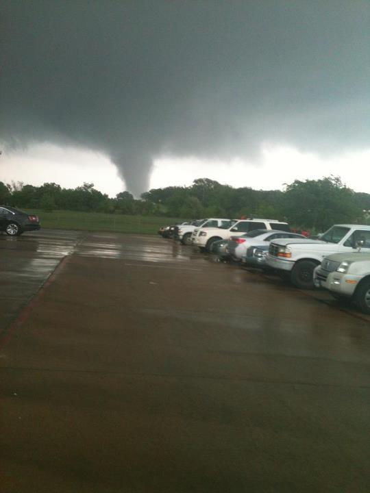 Tornado in Joshua, TX, today (April 3, 2012). Shot taken from Burleson, TX.