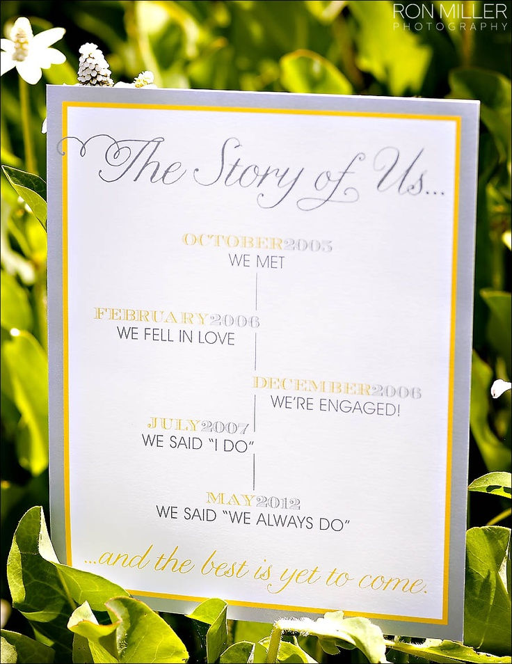 The Story of Us for Chelsy and Casey by Paper and Home. Photo by Ron Miller Photography