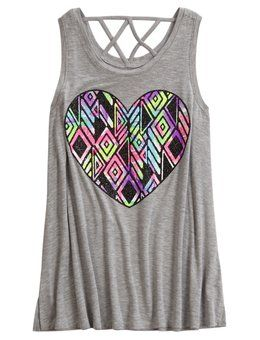 Shop Cross Back Tank and other trendy girls fashion tops tops at Justice. Find the cutest girls tops to make a statement today.