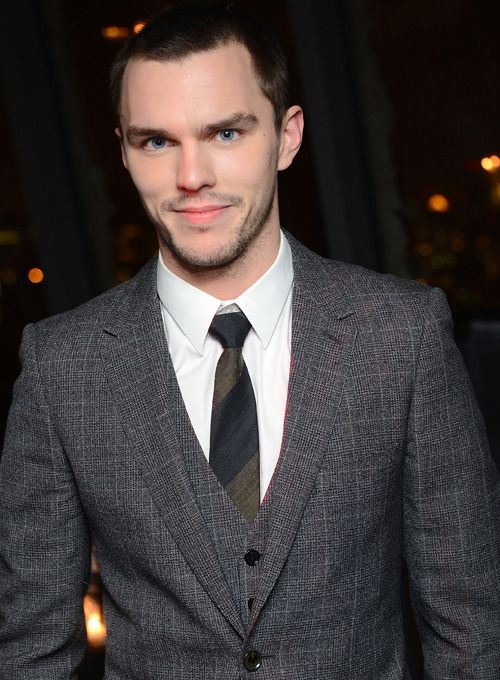 Nicholas Hoult...is it weird that I want to touch his suit?