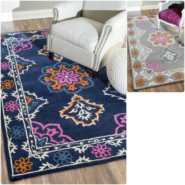 Nuloom Handmade Modern Multi Color Wool Rug 7 6 X 9 6