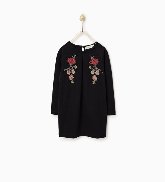 Image 1 of EMBROIDERED FLOWERS DRESS from Zara