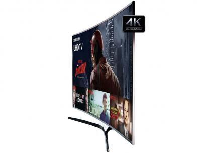 """Smart TV 65"""" Samsung 4K Ultra HD - 65KU6500 Conversor Digital 3 HDMI 2 USB - Magazine Vocesimonedavila"""