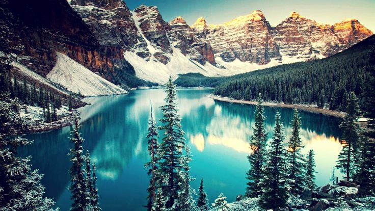 Earth Moraine Lake  Mountain Lake Canada Forest Reflection Wallpaper