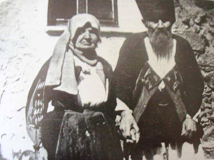 Coppia in abito tradizionale di Orgosolo