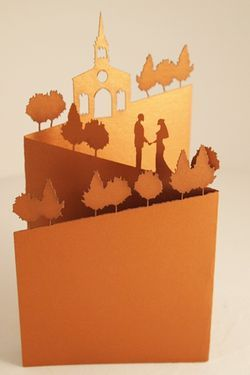 Stunning pop-up #wedding #invitations from Melbourne Laser Cutter //