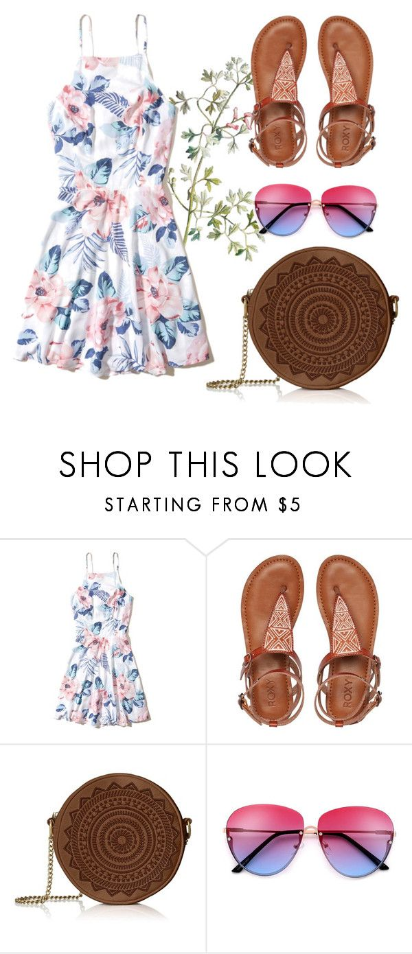A walk in the park by patsilvarte-blog on Polyvore featuring Hollister Co. and Roxy  #flowers #sandals #summer #hawai #ootd #outfit #girly #tribal