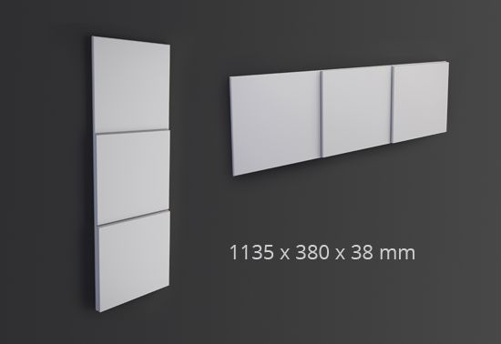 ARSTYL® Wall Panels DOMINO / H 380 x W 1135 mm / Tmax 38 mm