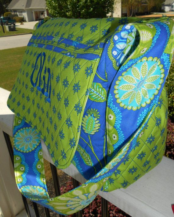 i love this so much i'd could do a nursery from these colors and patterns they are that sweet easy to look at and just make me smile Quilted Custom Diaper Bags with Matching Changing by GJRDesigns, $49.95