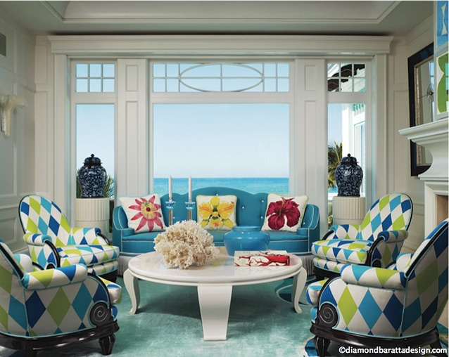 Turquoise And Green Chairs