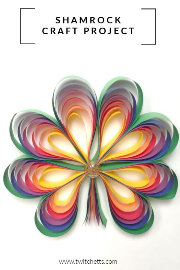 How To Make 3d Rainbow Colored Paper Shamrocks Easy Crafts For