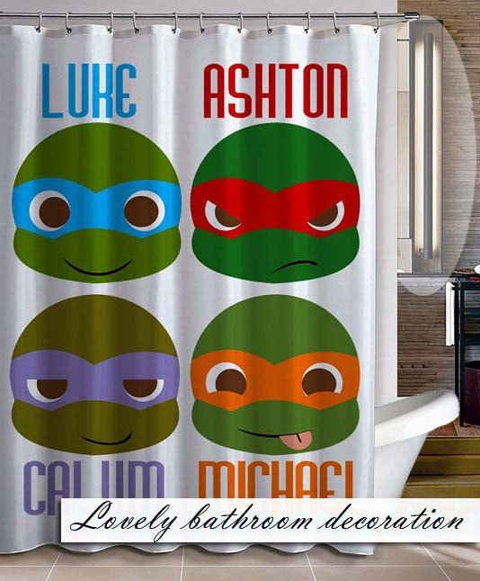 Teenage Mutant Ninja Turtles Shower Curtain | 25 Things Every 5 Seconds Of Summer Fan Needs Before Going Back To School THIS IS THE BEST THING EVERR