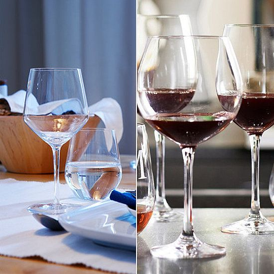 First-Apartment Decorating Essentials: Splurge + save stemware options