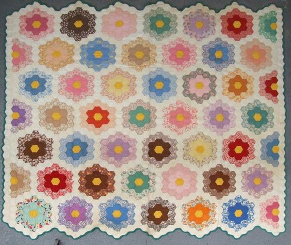 35 best GRANDMAS GARDEN images on Pinterest | Bedspreads, Hexagons