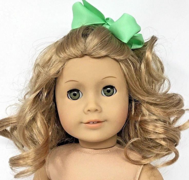 American Girl Doll ~Curly Honey Blonde Hair w/ Hazel Green Brown Eyes -Pristine #AmericanGirl