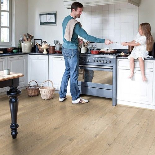 Waterproof Laminate Flooring loading small embossed waterproof laminate flooring without pallets Perfect For Kitchens Quick Step Impressive Soft Oak Medium