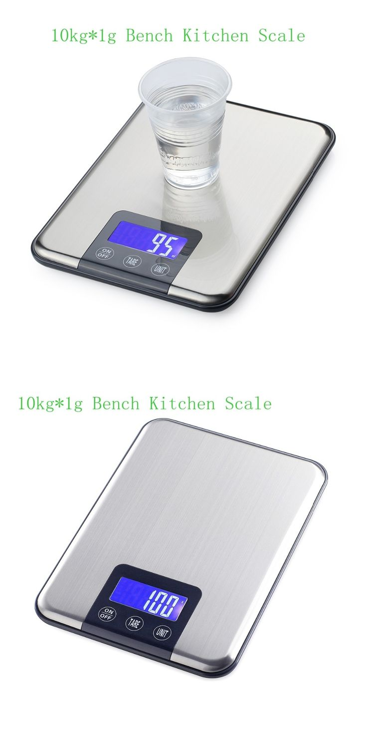 10kg 1g Slim Stainless Steel Digital Scale 10KG Electronic Diet Food Kitchen Scales Touch Grams Weight Balance With Retail Box