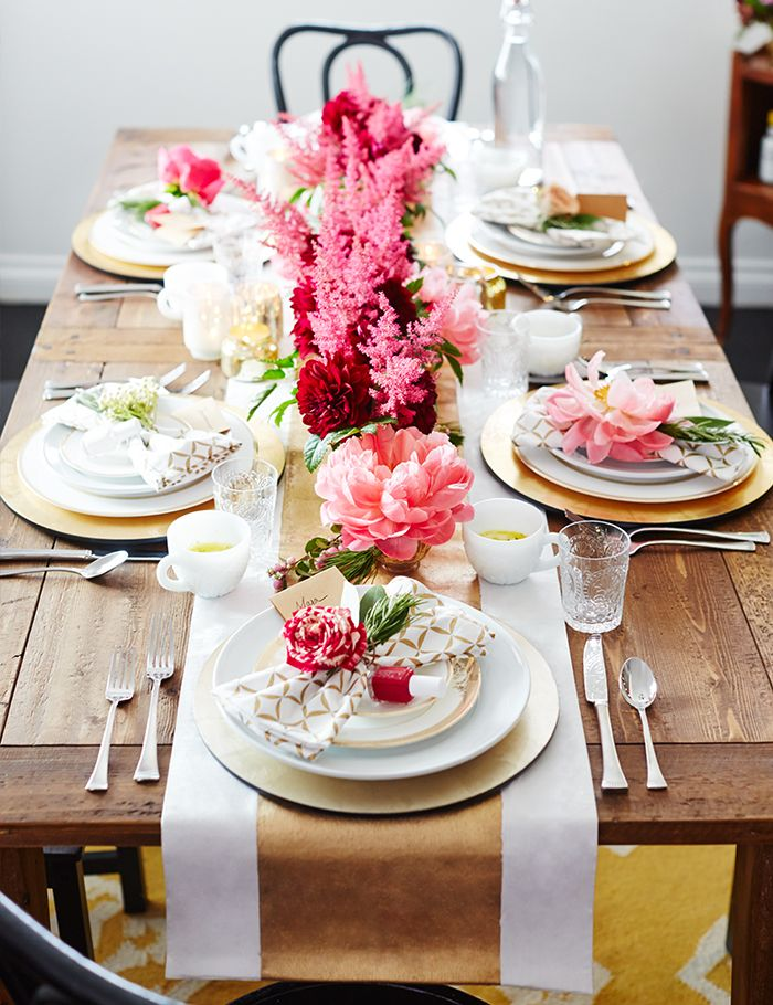You'll never guess the inspiration behind this winter brunch table. #sp #essie