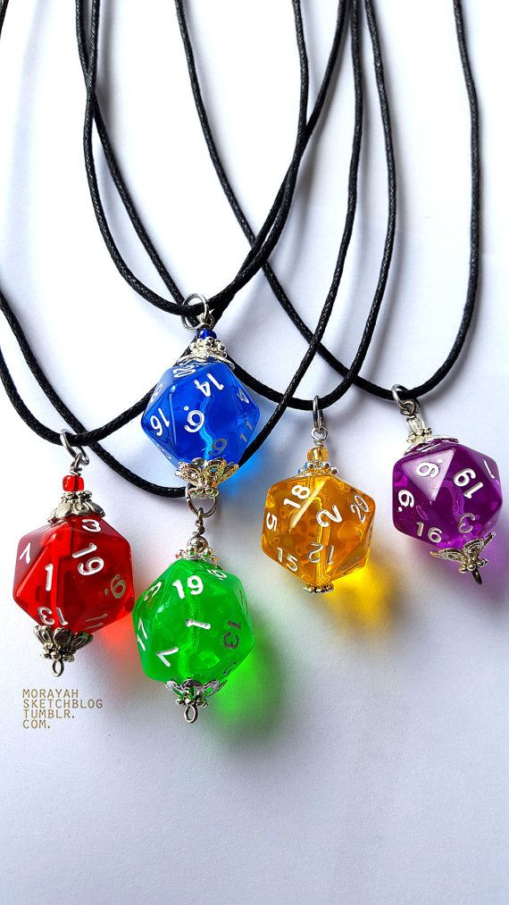 D20 Necklace Dice Necklace Dice Jewelry Dungeons And