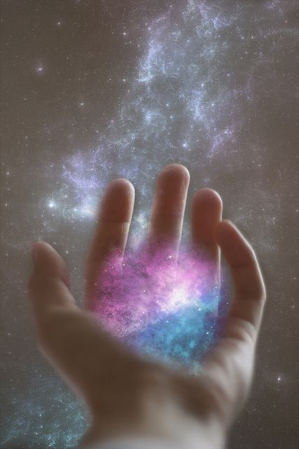 healing energy in the hands.