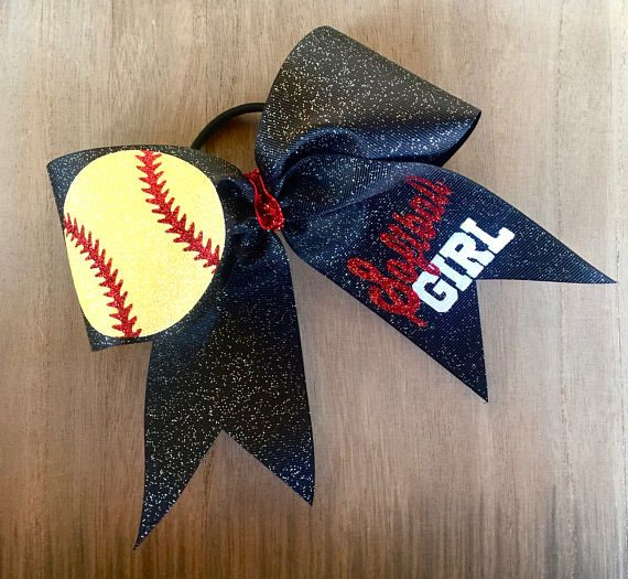 3 Glittered ribbon Softball Girl This Princess Wears