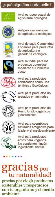 ¿Qué significa cada sello en los productos BIOsostenibles? > www.herbolarioecologico.com