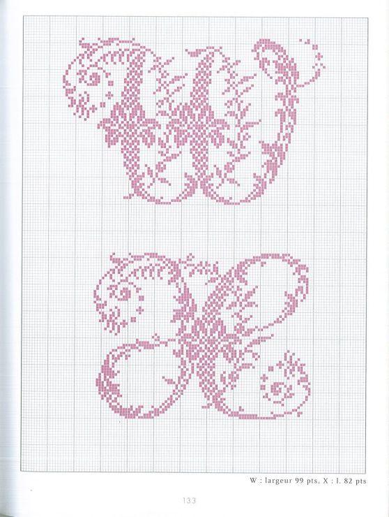 Gallery.ru / Фото #66 - belles lettres au point de croix - moimeme1