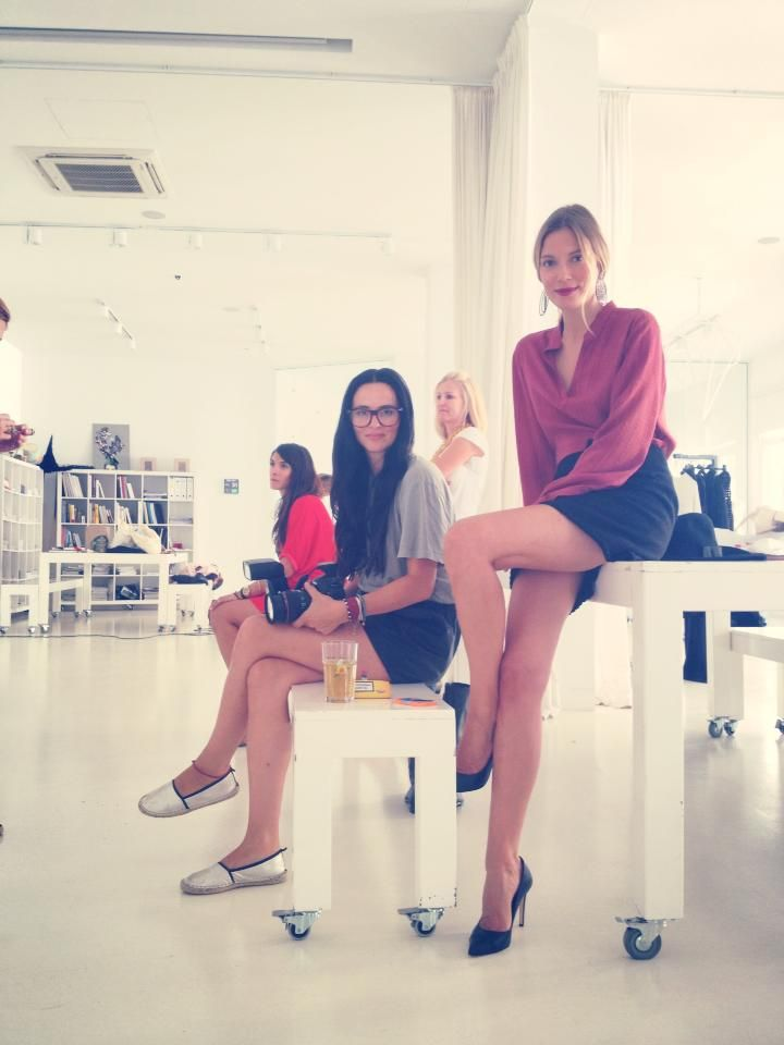 Backstage Zeus+Dione winter campaign shooting!! Fashion Workshop by Vicky Kaya #fashion #style #craftmanship