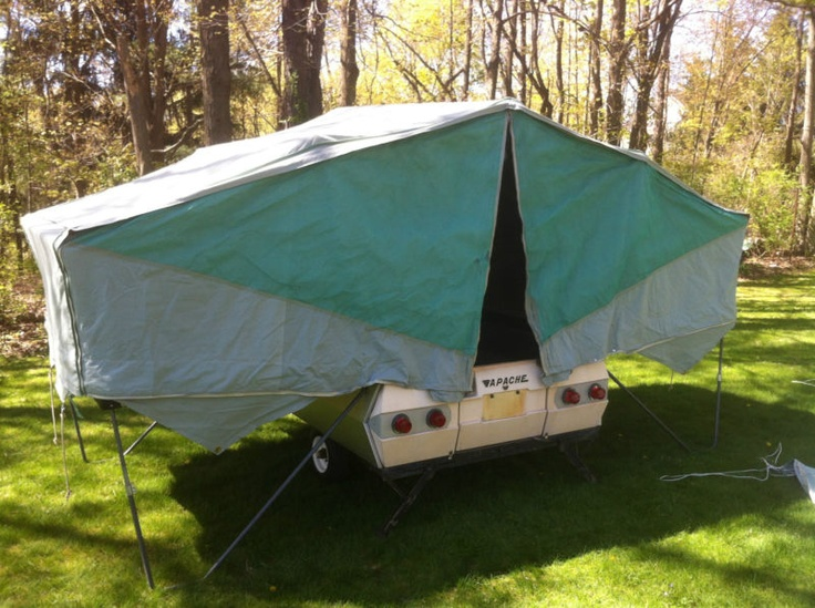 1964 Apache Silver Eagle Camper Popup Tent Trailer Pop Up Vintage