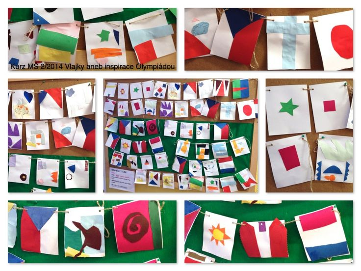 flags - crafting for preschoolers. Blog is full of inspirations!