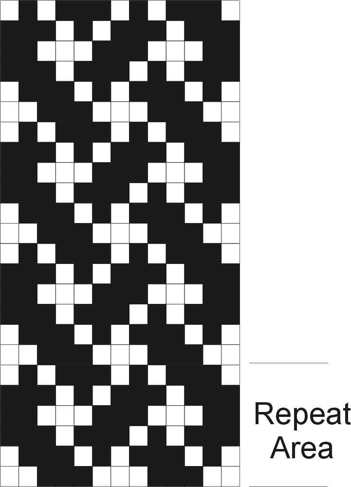 Celtic Knotwork Pick-up Graph - Inkleweaving.com
