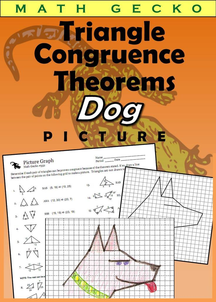 Triangle Congruence Theorems Picture (Dog) Elementary
