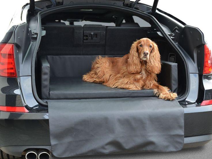 Autoschondecke - Kofferraum Schutzdecke - Auto - Hundebett in Schwarz Kunstleder 2 • 75.99 EUR