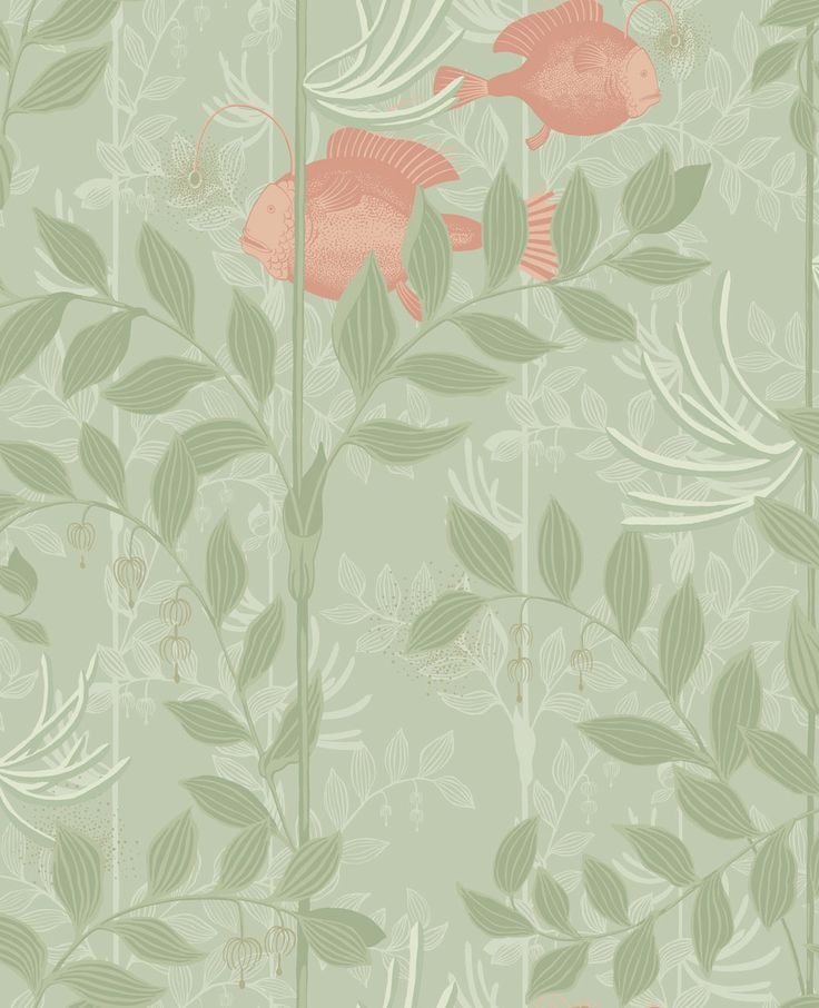 Nautilus Soft Green wallpaper by Cole