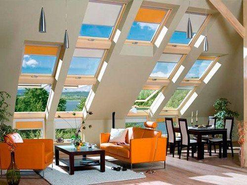 Окна на крыше дома  Окна, встроенные в кровлю, бывают мансардными и слуховыми, но суть от этого, по большому счету, не меняется. Изначально такие окна были предназначены для проветривания чердака, но позже они стали использоваться для дополнительного освещения и визуального расширения пространства. Так, когда в Европе наблюдалось перенаселение, люди искали возможность использовать каждый квадратный метр жилой площади с пользой, поэтому делали из чердаков дополнительные комнаты. А чтобы…