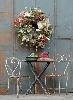 Lovely chairs: Idea, Teas Time, Heart, Home Magazines, Chairs, Shabby Chic, Summer Wreaths, French Gardens, Floral Wreaths
