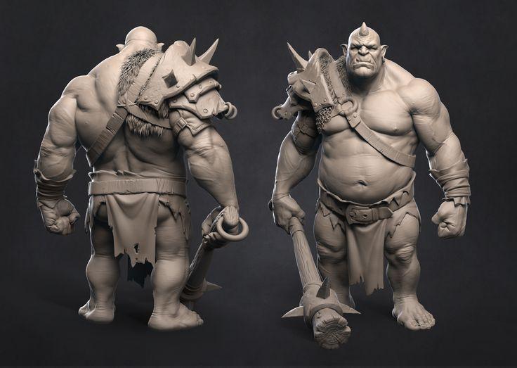 Ogre, Pavel Protasov on ArtStation at https://www.artstation.com/artwork/XPYXw