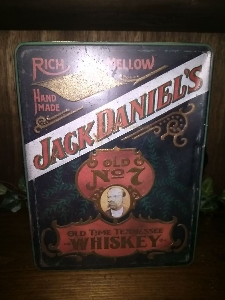 $24.96 or best offer Empty Jack Daniels Old No. 7 Metal Tin Old Time Tennessee Whiskey Box #Jackdaniels