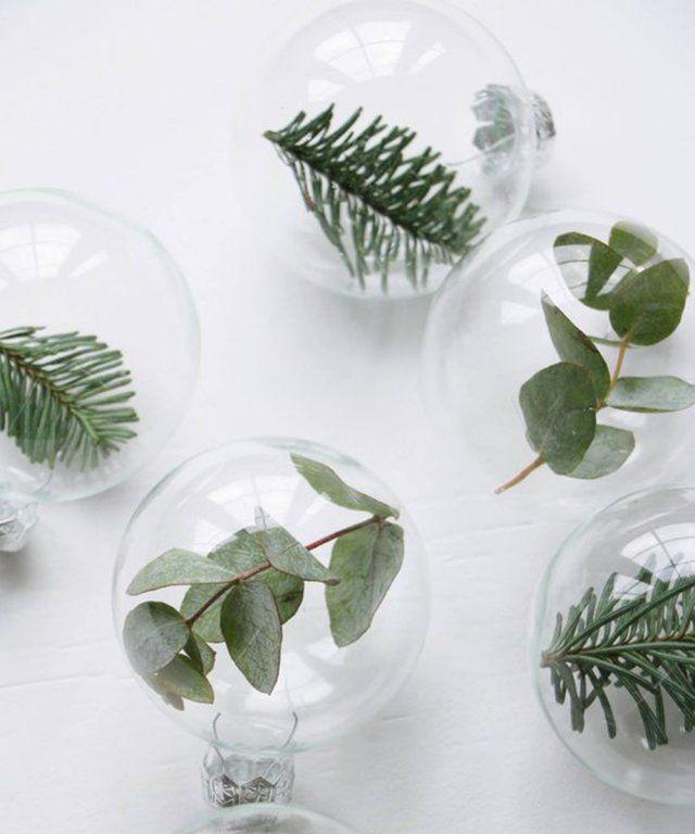 Une boule de noël végétale / christmas diy / boule de noel transparente