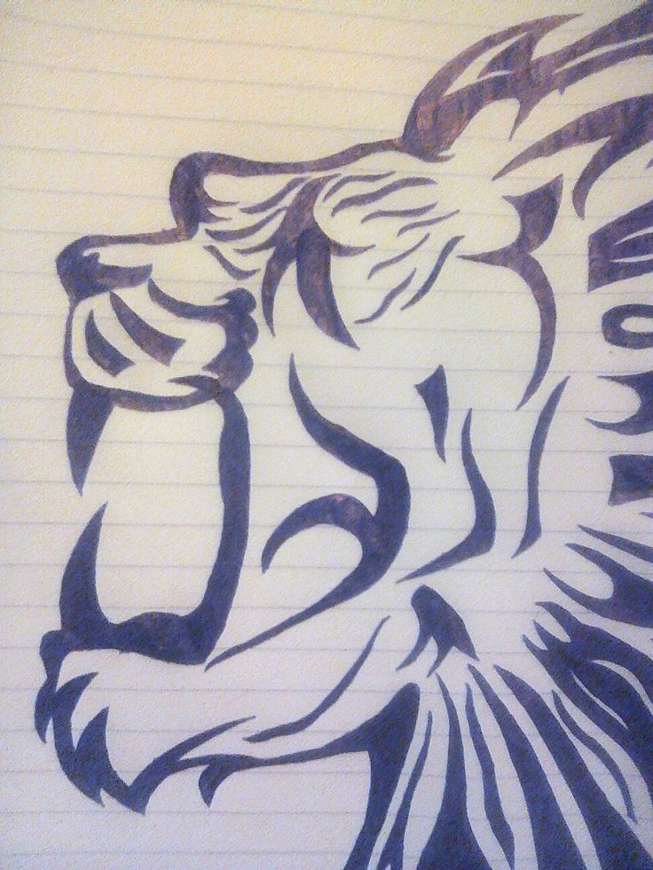 A lion tattoo based on sth similar online