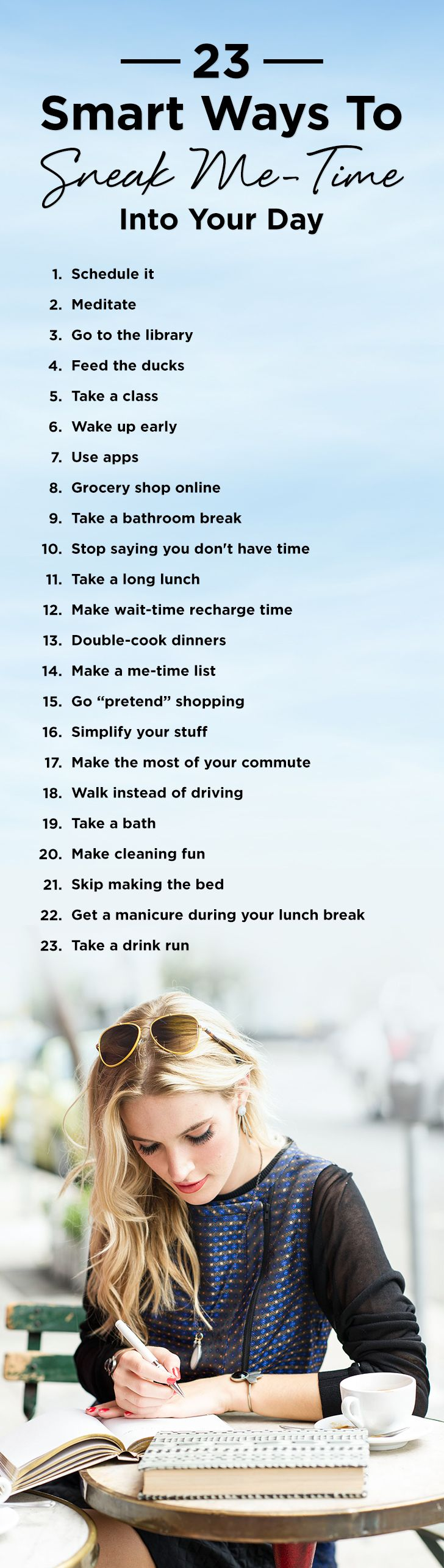 In need of some #MeTime inspiration? Each week, randomly pick one of these 25 ideas to try.