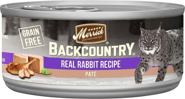 Merrick backcountry grainfree rabbit pate canned cat food