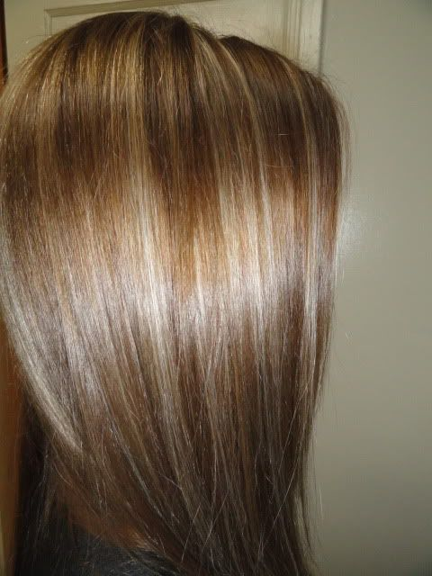 Brunette with blonde highlight I absolutely love these colors together. My favorite. Might do this summer. :)