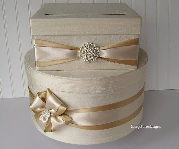 card box...could do this with the vintage looking decorative boxes from Big Lots. No wrapping them tho. Cut hole in them & glue them together so cards fall to the bottom.