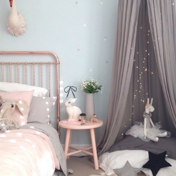 another stunning copper and pink girls room gorgeous copper bed from incy_interiors