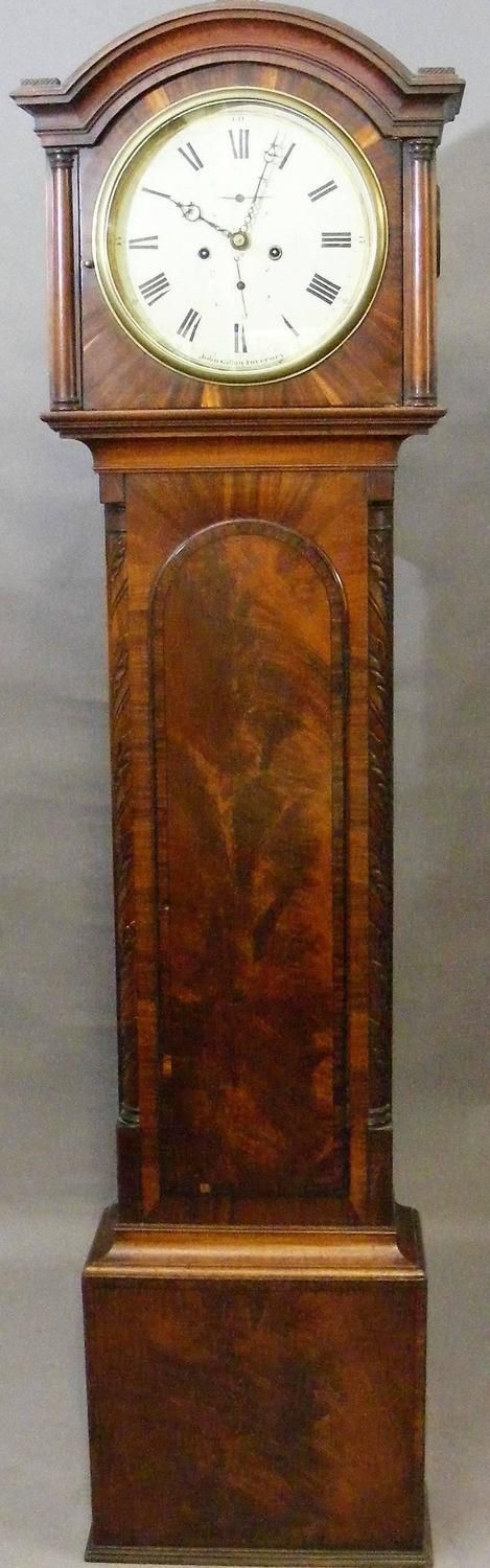 19th century grandfather clock in mahogany by an fine maker