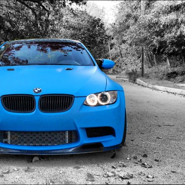 Matte Blue BMW M3... * drool * had one of these one... I miss her